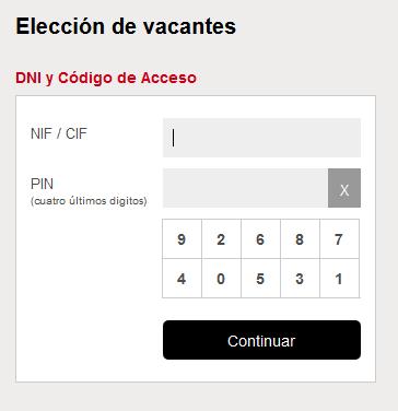 Identificacion NIF/CI